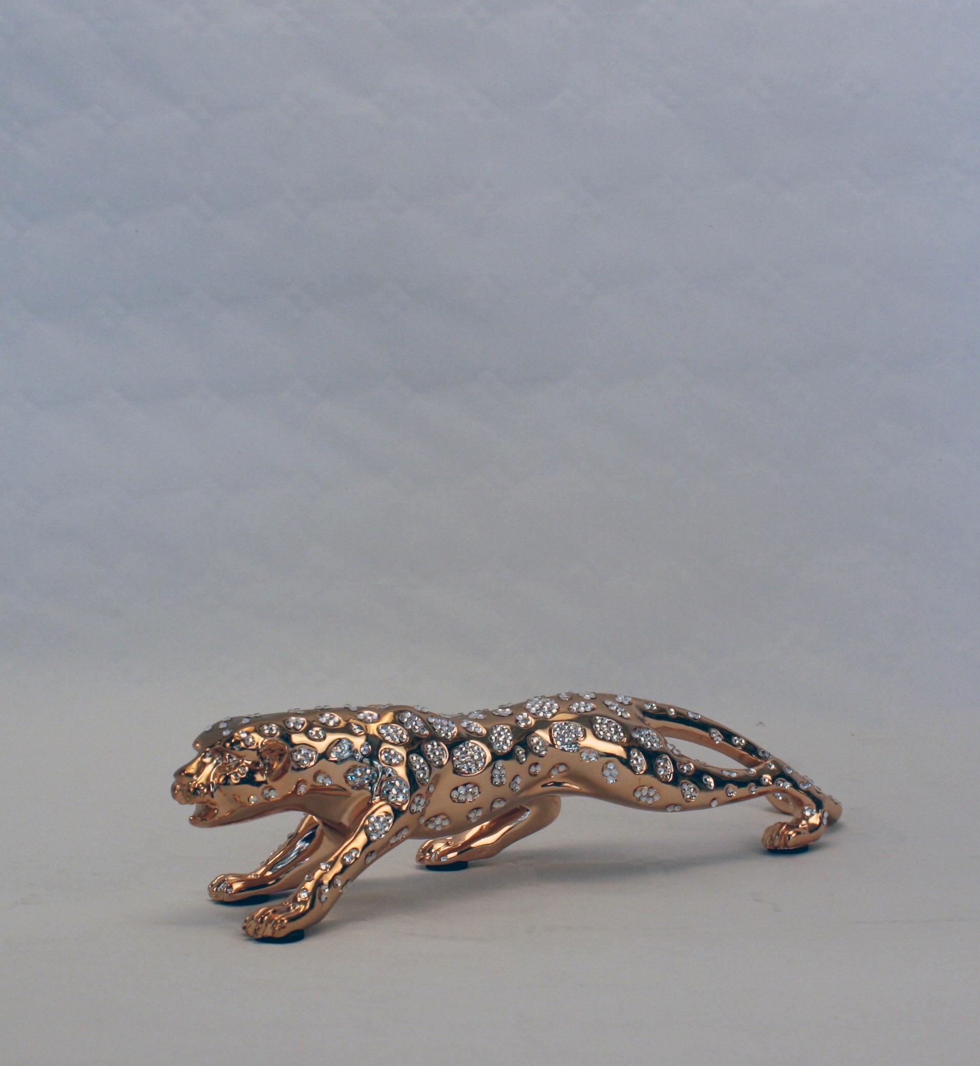 Leopard - Guld med diamanter - Lille - 1